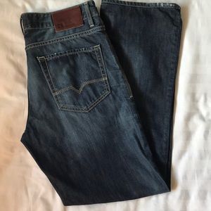 Hugo BossOrange buttonfly straight leg jeans